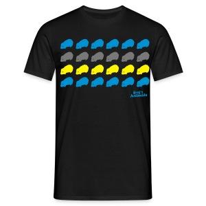 Basishirt schwarz mit Meerschweinchen Pop Art - Männer T-Shirt