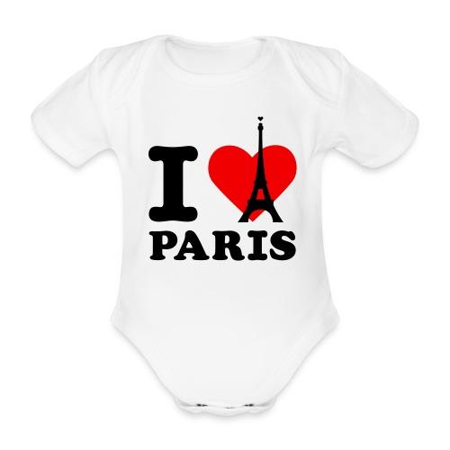 T-Shirt I Love Paris Bebe BabyBugz - Body bébé bio manches courtes
