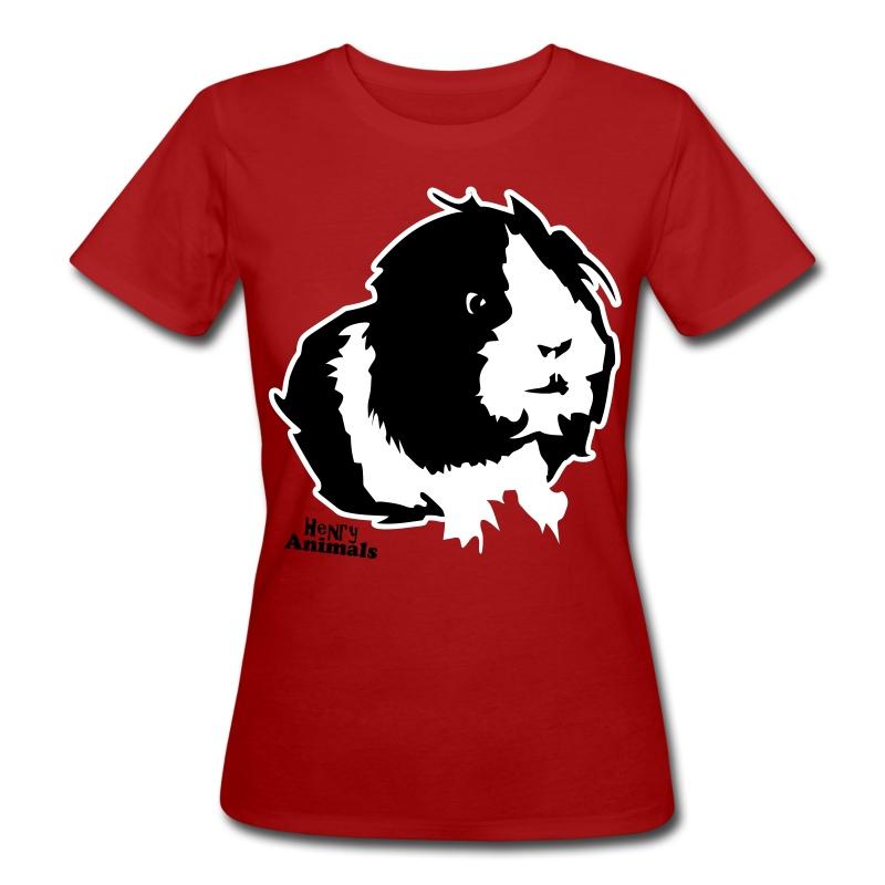 Bioshirt rot mit Elvis - Frauen Bio-T-Shirt