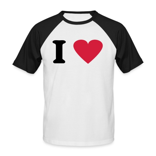 I love  - T-shirt baseball manches courtes Homme