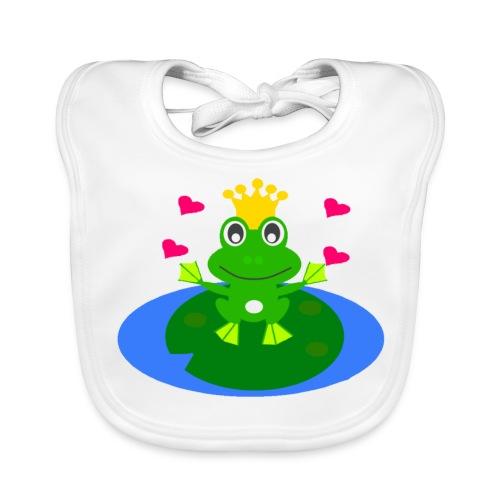 Froschlatz - Baby Bio-Lätzchen