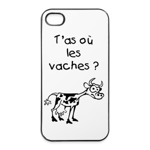 T'as où les vaches Iphone 4/4S - Coque rigide iPhone 4/4s
