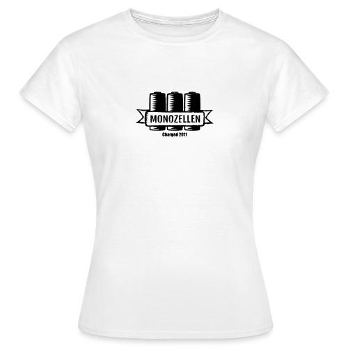 Monozellen Girlieshirt, Weiß - Frauen T-Shirt