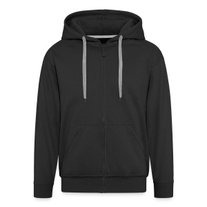 Black Jacket (Hooded) - Männer Premium Kapuzenjacke