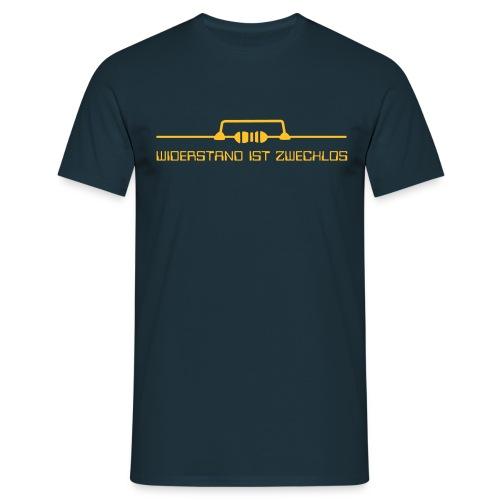 Widerstand ist zwecklos (deutsch) - Männer T-Shirt