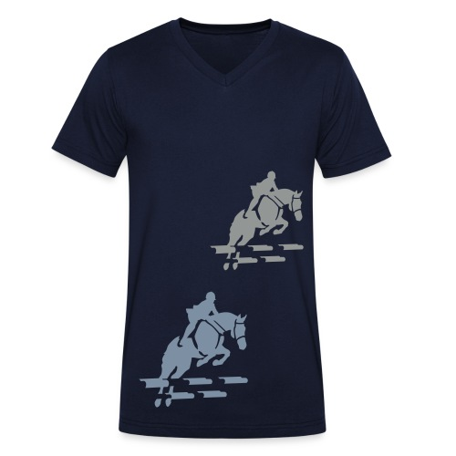 At the races. - Men's Organic V-Neck T-Shirt by Stanley & Stella
