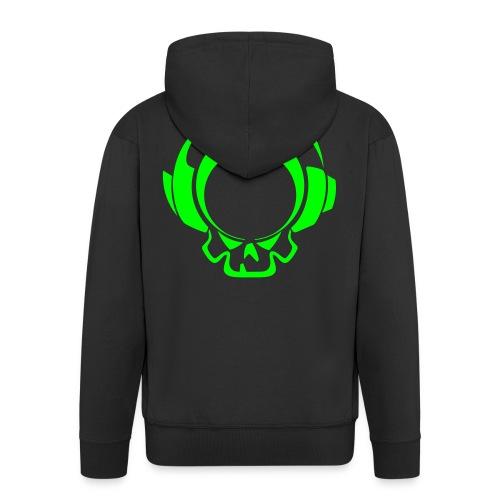 Veste à capuche avec fermeture eclair - Logo Vert Néon - Veste à capuche Premium Homme