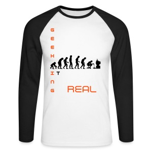 GEEKING IT Baseball - Men's Long Sleeve Baseball T-Shirt