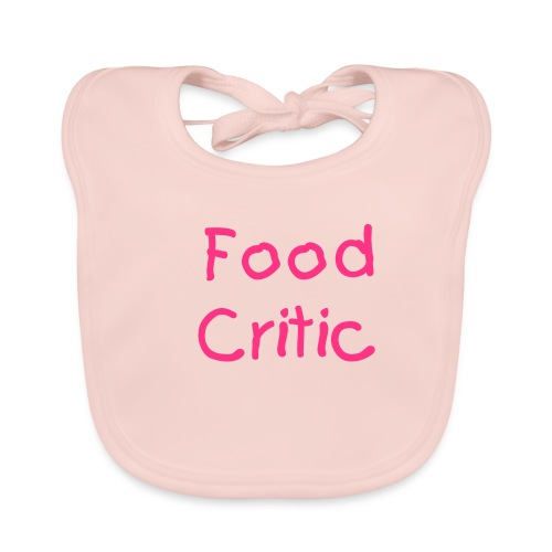 Food Critic Pink - Baby Organic Bib