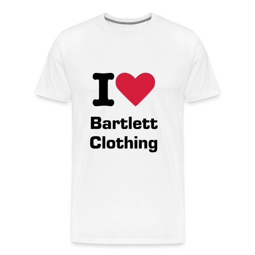 I heart Bartlett Clothing - Men's Premium T-Shirt