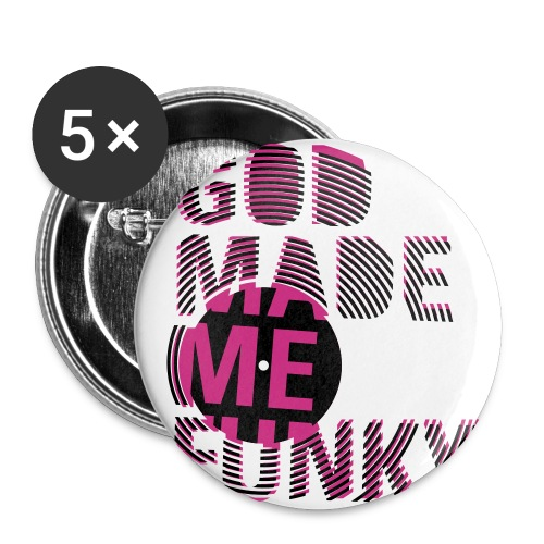 Girlie me button - Buttons large 2.2''/56 mm(5-pack)