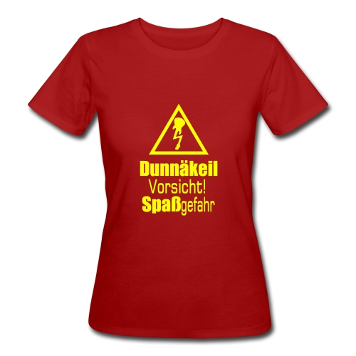 Frauen-Bio-Shirt mit gelbem Aufdruck - Frauen Bio-T-Shirt