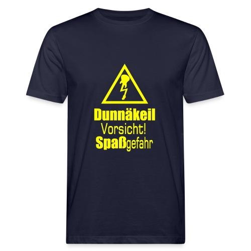 Bio-T-Shirt mit gelbem Aufdruck - Männer Bio-T-Shirt