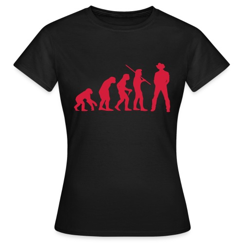 Evolution Cowboy - Frauen T-Shirt