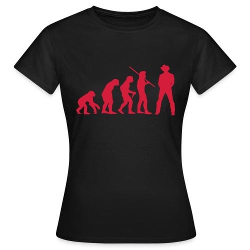 Evolution Cowboy - Frauen T-Shirt