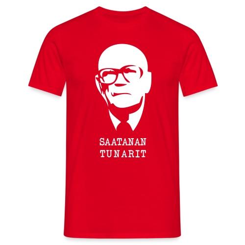 Kekkonen saatanan tunarit t-paita - Miesten t-paita