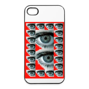 COQUE RIGIDE IPHONE 4/4 S REGARD ROUGE - Coque rigide iPhone 4/4s
