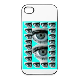 COQUE RIGIDE IPHONE 4/4 S REGARD BLEU - Coque rigide iPhone 4/4s