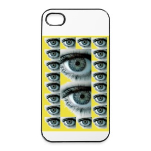 COQUE RIGIDE IPHONE 4/4 S REGARD JAUNE - Coque rigide iPhone 4/4s