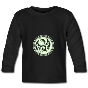 Baby Glow in the dark Dragon Long Sleeve T-shirt - Baby Long Sleeve T-Shirt
