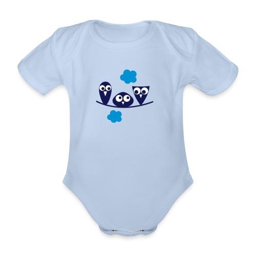 Baby Body Eulen - Baby Bio-Kurzarm-Body