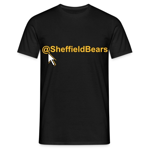 @SheffieldBears Tee Idea with Cursor (Black) - Men's T-Shirt