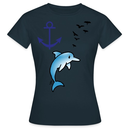 T.SHIRT DAUPHIN - T-shirt Femme