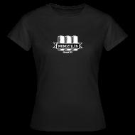 T-Shirts ~ Frauen T-Shirt ~ Monozellen Girlieshirt, Schwarz