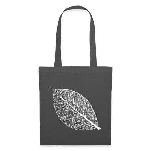 t-shirt blatt laub leaf leaves herbst skelett baum ast natur - Stoffbeutel