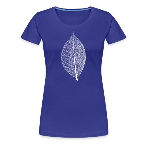 t-shirt blatt laub leaf leaves herbst skelett baum ast natur - Frauen Premium T-Shirt