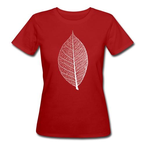 t-shirt blatt laub leaf leaves herbst skelett baum ast natur - Frauen Bio-T-Shirt