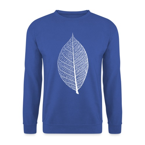 t-shirt blatt laub leaf leaves herbst skelett baum ast natur - Männer Pullover