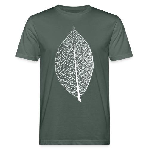 t-shirt blatt laub leaf leaves herbst skelett baum ast natur - Männer Bio-T-Shirt