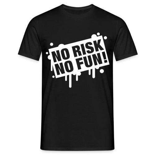 No Risk Mens Black T-Shirt - Men's T-Shirt