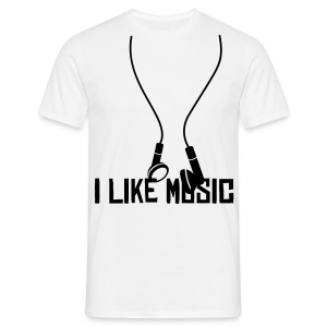 I Like Music T-Shirt - Men's T-Shirt