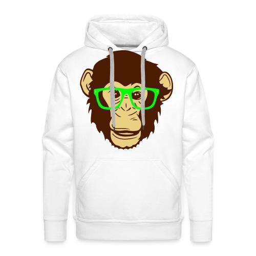 Monkey nerd - Felpa con cappuccio premium da uomo