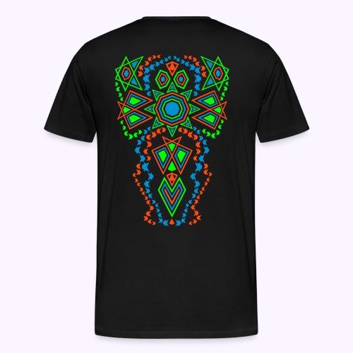 Tribal Sun 2-Side Men Premium S-5XL - Premium T-skjorte for menn