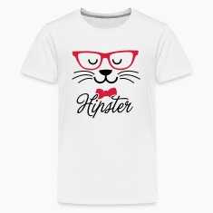 Swag hipsta hipster pussy cat animal style face Camisetas