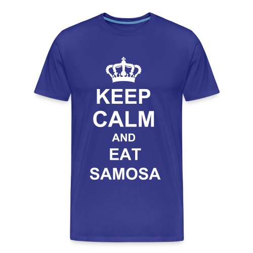 Keep Calm Eat Samosa - Men's Premium T-Shirt