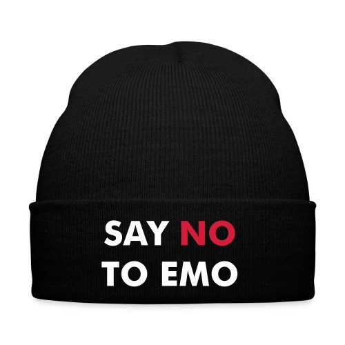 SAY NO TO EMO BEANIE - Winter Hat