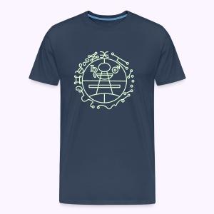 Key of Solomon Glow-in-Dark Men Premium S-5XL - Mannen Premium T-shirt