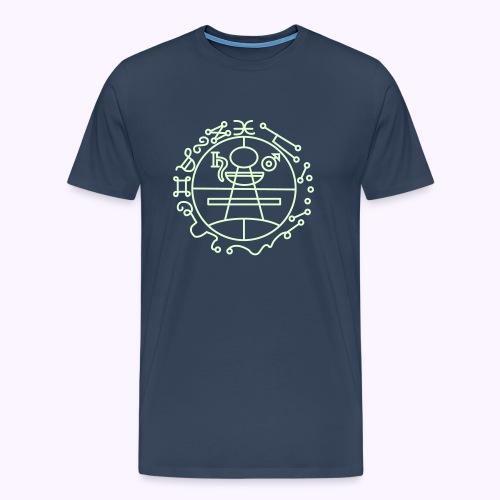 Key of Solomon Glow-in-Dark Men Premium S-5XL - Herre premium T-shirt