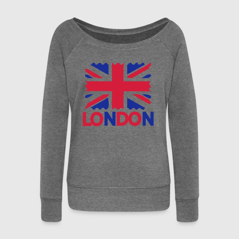 London Flag Women's Boat Neck long sleeve Top - Women's Boat Neck Long Sleeve Top