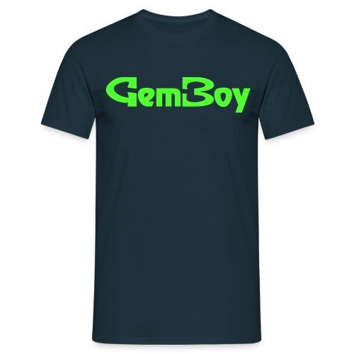 Scritta Gem Boy verde - Maglietta da uomo