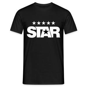 Classic Men's Five Star Tee (Black) - Men's T-Shirt