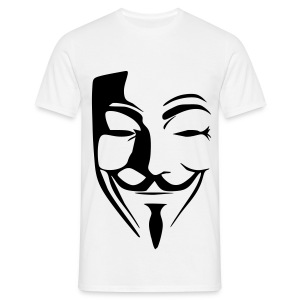 Anonymous Blanc - T-shirt Homme