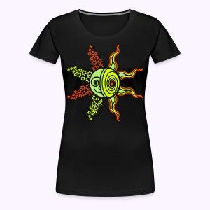 Sun-Moon-Stars UV-Active - Classic Girlie - Vrouwen Premium T-shirt