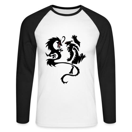 Männer Baseballshirt langarm - tiger,t-shirt,shirt,selbstbedruckt,drache