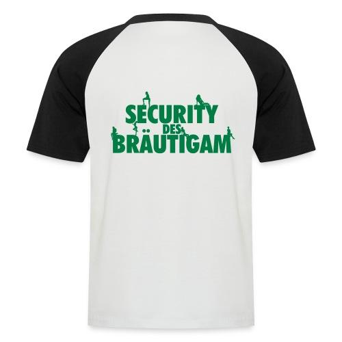 SECURITY DES BRÄUTIGAM - Männer Baseball-T-Shirt