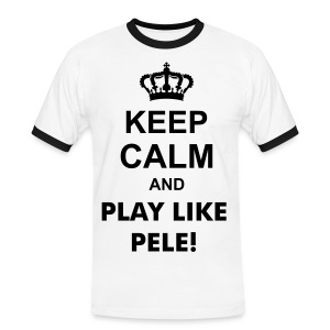 Keep Calm Pele - Men's Ringer Shirt